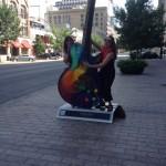 playing street guitar
