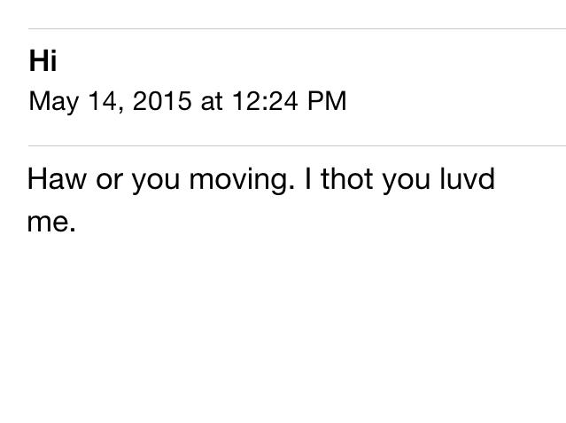 sad email