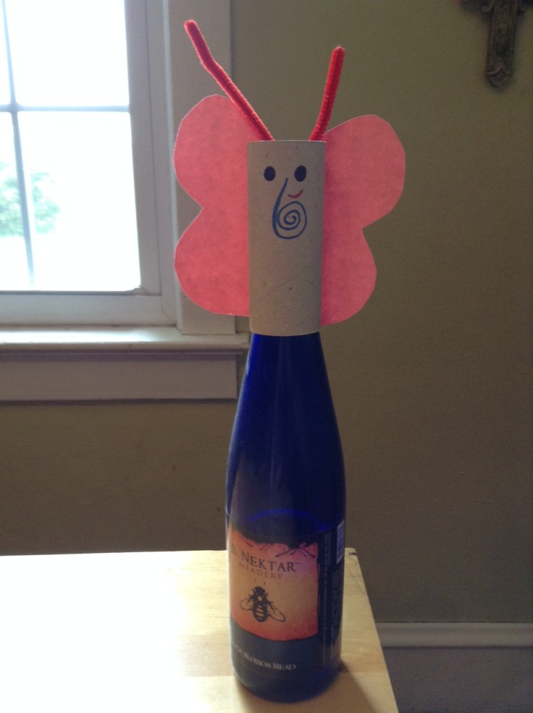 toilet paper wine craft