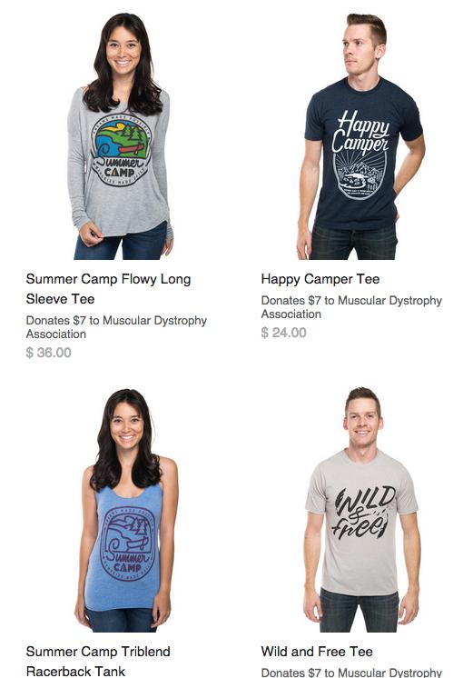 MDA camp t-shirts