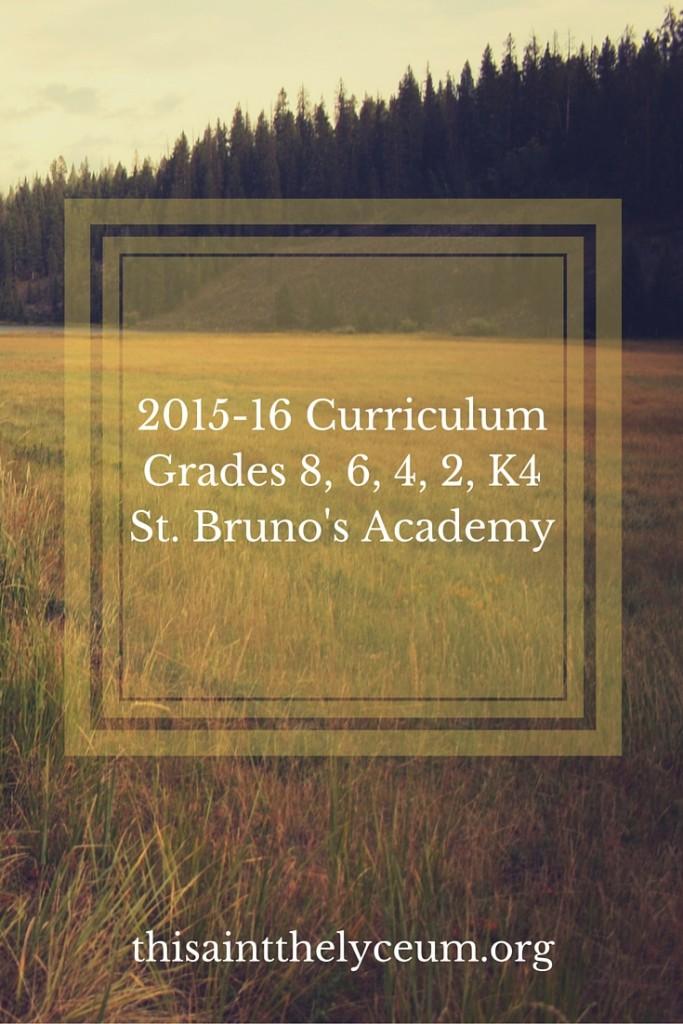 2015-16 curriculum