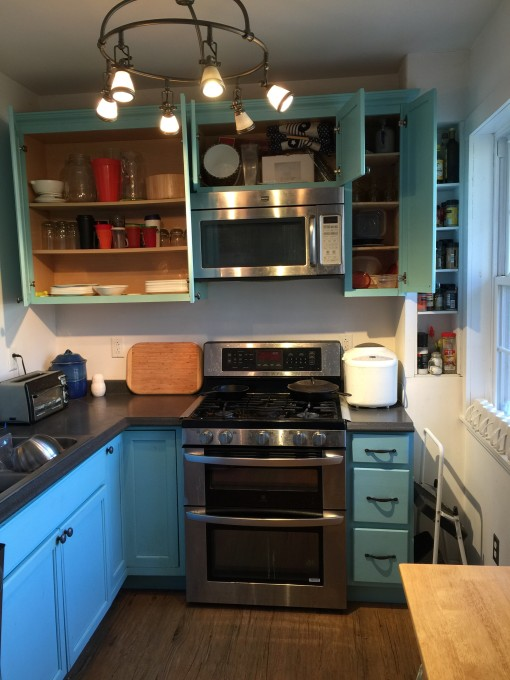 kitchen cabinets open