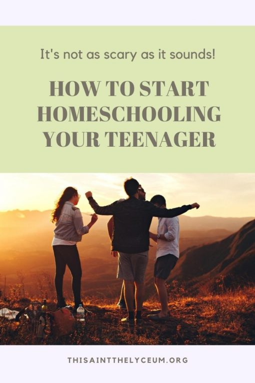 How to Start Homeschool A Teenager